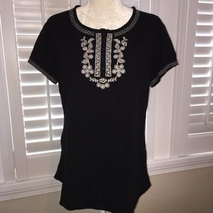 NorthCrest cotton top with Embroidery